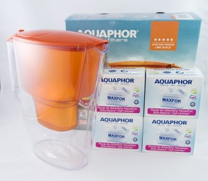 Dzbanek filtrujący Aquaphor Time Orange +4x B25 Maxfor